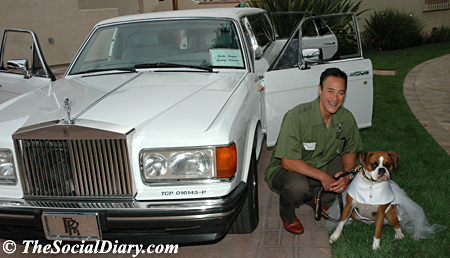 scott johnston and kima by rolls royce limo
