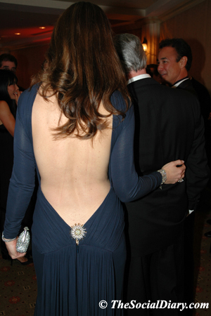 val cooper from the back of her guy laroche gown