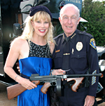 margo schwab and SDPD Chief William Lansdowne