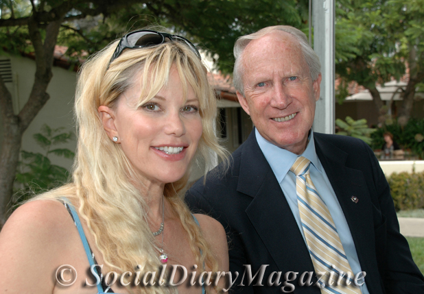 Margo Schwab of Social Diary Magazine with Ken Wood