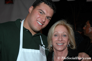 luis costillos with susie spanos of the chargers