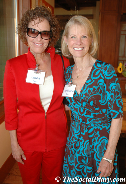 Linda Katz and Catherine Blair at the Girl Scouts ViP Party in 2009 held a tthe home  of Rebecca and Craig Irving