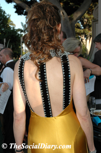 valerie cooper's back of gown