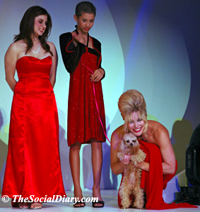 margo schwab with poodle and alyssa monk and jemima garcia