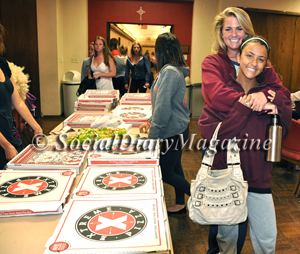 Social Diary Magazine sends Extreme Pizza to Alph Phi Sorority at USD as thank you