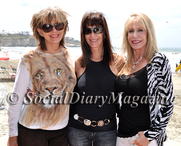 Jordan with Pamela Turner and Barbara Poulos at the La Jolla Beach & Tennis Club 2011