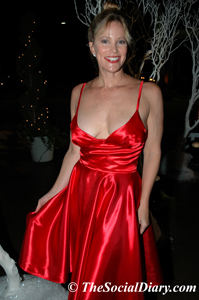 margo schwab in red dress designed by jemima garcia-rojas