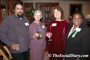 ramon gomez and ann o'neil with literacy council guests
