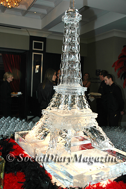 University Club's Ice Sculpture Display of the Tour Eiffel