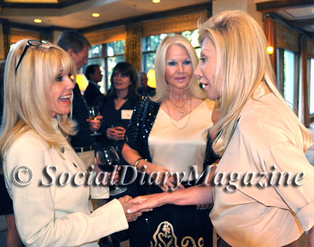 Melanie Wizan and Alanna Tarkington with Madeleine Pickens