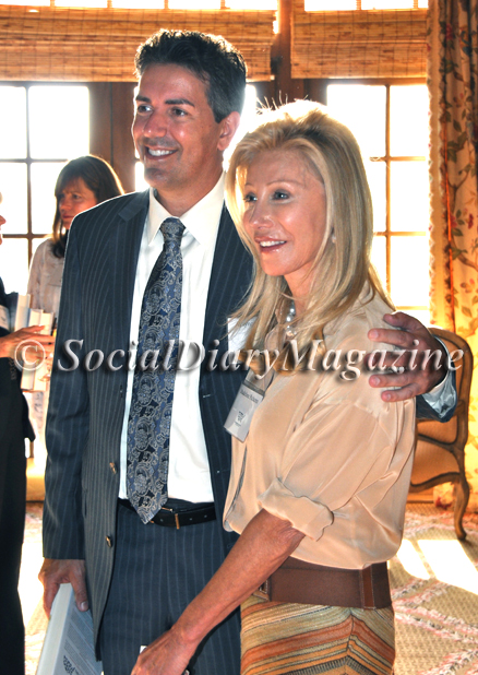 Wayne Pacelle, author of The Bond, with event hostess Madeleine Pickens
