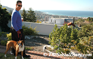 scott johnston and kima checking out the surf from the Thornton's house