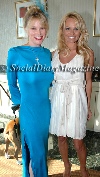Margo Schwab with Pamela Anderson at the USO Gala 2011