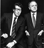 Yves St. Laurent and Paul Berge