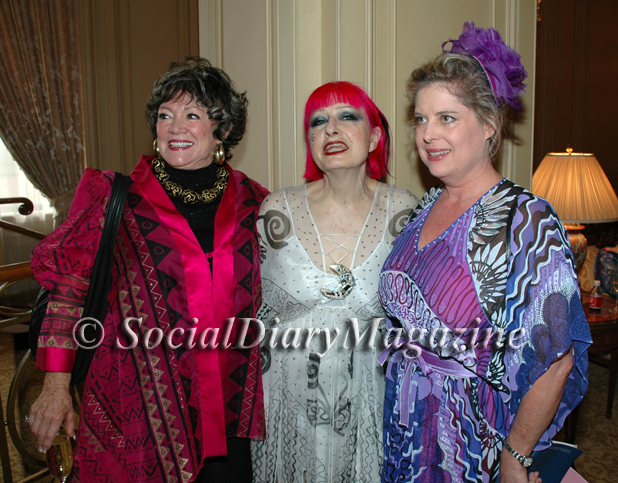 Zandra Rhodes with fans and friends